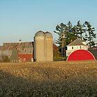 Fall Harvest Barn shot! by Diane Trummer Sullivan