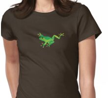 Green Frog Womens Fitted T-Shirt