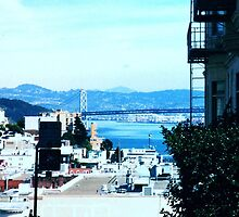 view of the bridge from san francisco by califpoppy65