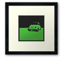 Fiat 500, 1959 - Green on black Framed Print