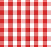 Red and White Picnic Cloth Pattern by Diana Beato