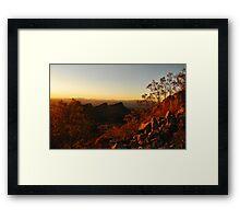 Dusk in the Southwest Framed Print