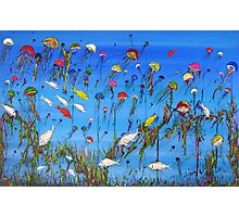 """JellyFish Reef""  Original Acrylic Painting won the Peoples Choice award in Fremantle Exhibition. SOLD Photographic Print"