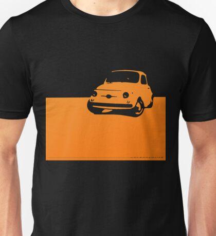 Fiat 500, 1959 - Orange on black Unisex T-Shirt
