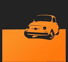 Fiat 500, 1959 - Orange on black by uncannydrive