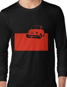 Fiat 500, 1959 - Red on black Long Sleeve T-Shirt