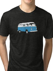 New Bay Campervan Blue Tri-blend T-Shirt