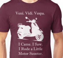 Veni Vidi Vespa White Print Unisex T-Shirt