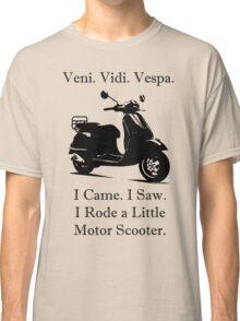 Veni Vidi Vespa Black Print Classic T-Shirt