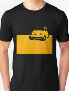 Fiat 500, 1959 - Yellow on black T-Shirt