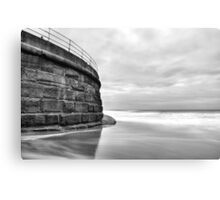 Sea Wall, Whitby Canvas Print