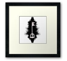 Kingdom hearts keyblade, the light in the darkness Framed Print