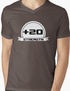 + 20 Strength Mens V-Neck T-Shirt