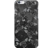 Galaxy Satellite Black and White iPhone Case/Skin
