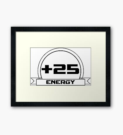 +25 Energy Framed Print