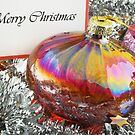 Merry Christmas card with bauble by Silvia Ganora