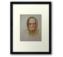 Old lady from Russia Framed Print