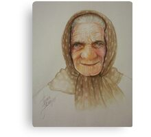 Old lady from Russia Canvas Print
