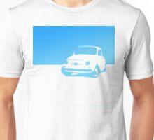 Fiat 500, 1959 - Light blue on white Unisex T-Shirt