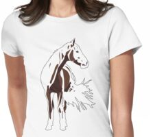 Red Rowdy / Riley Horse Womens Fitted T-Shirt