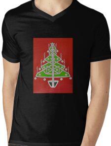 Celtic Christmas Tree Tee Mens V-Neck T-Shirt