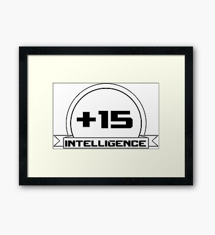 +Intelligence Framed Print