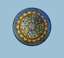 Bicycle Mandala in Blue Green and Yellow Unisex T-Shirt
