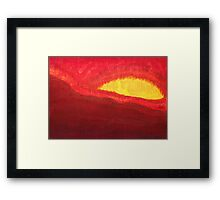 Wildfire Eye original painting Framed Print