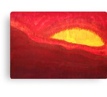 Wildfire Eye original painting Canvas Print