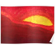 Wildfire Eye original painting Poster
