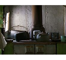 Cooking in Gwalia Photographic Print