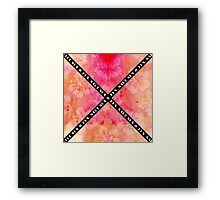"""Salt Sun & Fun"" Typography on Watercolor Hibiscus Framed Print"