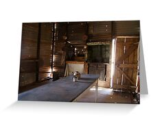 Homestyle living in Gwalia, ghost town near Leonora Greeting Card