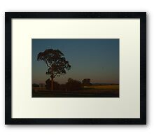 Fields at Dusk Framed Print