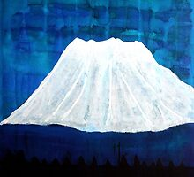 Mount Shasta original painting by CrowRisingMedia
