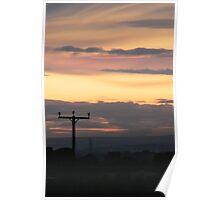 Sunset Telegraph Poster