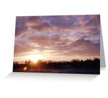 Norfolk Winter sunrise Greeting Card
