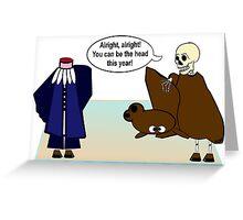 A Grim Debate Greeting Card