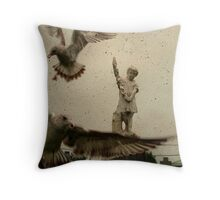 Gothic Pigeons Throw Pillow