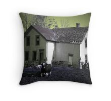 Cow Infestation Throw Pillow