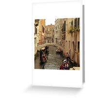 Rush Hour In Venice  Greeting Card