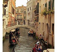 Rush Hour In Venice  Photographic Print