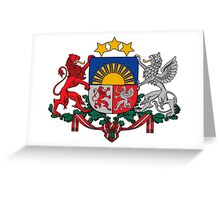 Coat of Arms of Latvia  Greeting Card