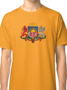 Coat of Arms of Latvia  Classic T-Shirt