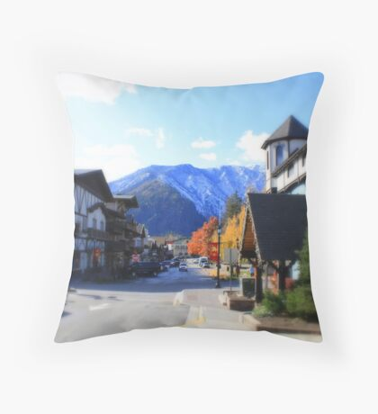 Little town of Leavenworth Throw Pillow