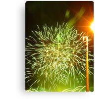 Fireworks at riverside Canvas Print