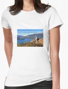 Keep close to Nature's Heart...Wash your spirit clean (John Muir) Womens Fitted T-Shirt