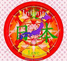 Infinite Love Series- JAPAN mandala of Love by bravemandala