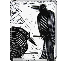 Black Birds Original Hand Pulled Linoleum Print iPad Case/Skin