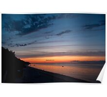 Friendship Beach, Rocky Point, New York Sunset Poster
